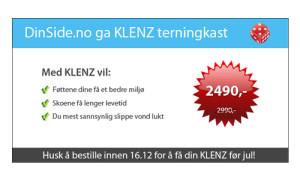 Annonse Klenz - Frogner Media